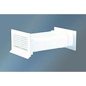 Ab- u. Zuluft-Mauerkasten Ø 125mm mit Rückstauklappe