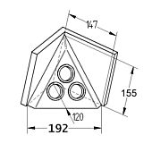 ST 3007-C  Pyramide mit 3 Steckdosen